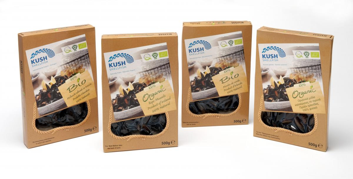 Multilingual Packaging for Irish Mussels for Export